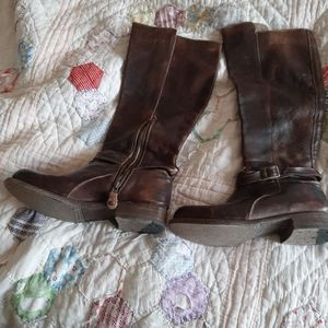 Bed Stu brown leather boots